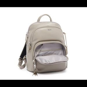 Tumi gray backpack